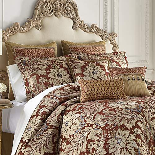 Croscill Arden King Comforter Red (Bedding King Croscill)