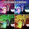 Onforu 2 Farette LED RGB, 35W Proiettore per esterni a LED,IP66 impermeabile, 4 modalità 16 colori modificati da telecomando senza fili lampada spot multicolore, illuminazione Ambience per feste