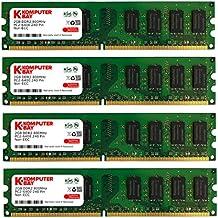 Komputerbay KB_8GBAM2_4x2GB800_251 - Modulo di memoria DIMM DDR2 da 8 GB (2 x 2 GB) a 240 pin AM2 PC2 6400/PC2 6300 800 MHz