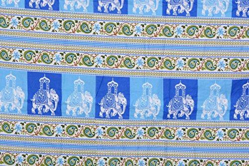 Spangle Traditional Rajasthani Print Cotton Reversable Cotton Dohar - Single Bed Set of 1