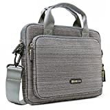 Microsoft Surface Pro 4 Shoulder Bag, Evecase Multi-functional Suit Fabric Briefcase Case Tote Bag for Microsoft Surface Pro 4 / 3 New 12-inch Intel Core i3 / i5 / i7 Windows Tablet PC - Grey