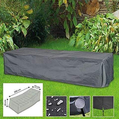 Housse / Bâche de protection de qualité supérieure pour Chaise longue / Transat env. 200 x 75 x 45 cm de