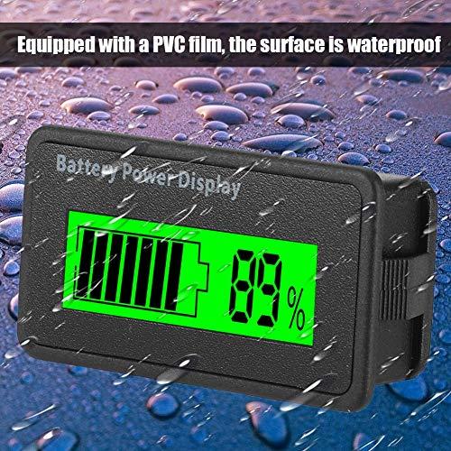 LCD Batterie Kapazitäts Monitor, 12-48 V Universal LCD Digital Battery Capacity Anzeige, LCD Akku Kapazität Voltmeter Meter(grün) -