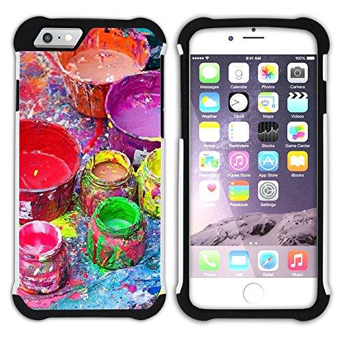 Graphic4You Flasche Farbe Farben Kunst Gemälde Malerei Hart + Weiche Kratzfeste Hülle Case Schale Tasche Schutzhülle für Apple iPhone 6 / 6S Design #29