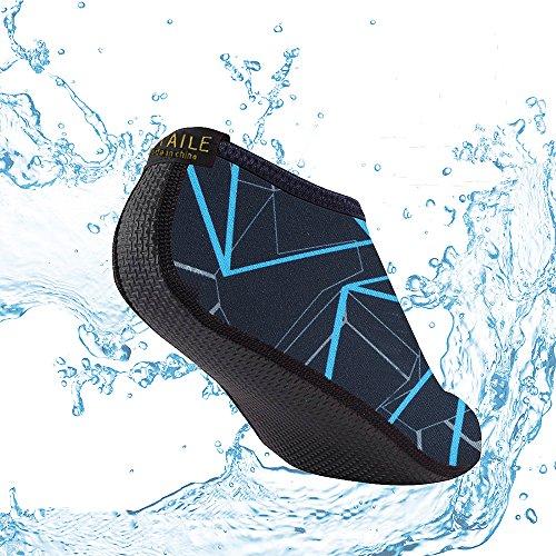 SITAILE Scarpe Da Mare Scarpette di Aqua da surf da spiaggia per Sportive Acquatici per da Abbigliamento Bambini Donna Uomo Blu scuro