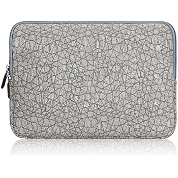Arvok 17 Inch Leaf Vein Grey Canvas Fabric Laptop Sleeve Colorful Pattern/Notebook Computer Case/Ultrabook Tablet Briefcase Carrying Bag/Pouch Cover For MacBook Air/Pro/Acer/Asus/Dell/Lenovo/HP/Samsung