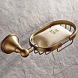 Weare Home Support Mural Finition Laiton Antique Porte Savon de Salle de bain Douche en Laiton Classique Antique Meilleure Prix Pas Cher