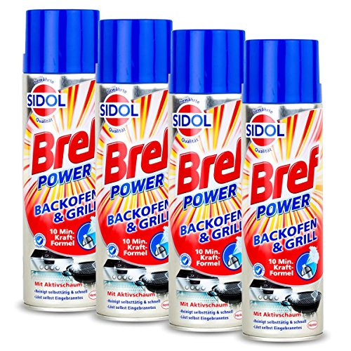 Sidol Bref Power Backofen & Grill Reiniger 500ml-10 min. Kraft-Formel(4er Pack) -