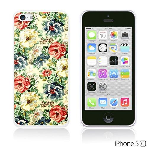 OBiDi - Flower Pattern Hardback Case / Housse pour Apple iPhone 5C - Multicolor Floral Shapes Vintage Floral Fabric