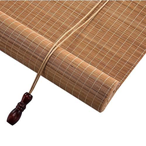 Tende a rullo di bambù, tende avvolgibili tende filtranti di luce tende privacy, tenda di bambù con mantovane, ombra 55% (colore : wave, dimensioni : 80x90cm)
