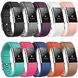 Jiamus for Fitbit Charge 2 Armbands, Ersatz Zubehör Sport Strap Einstellbare Uhrenarmbänder Wireless Armbänder für Fitbit Charge 2 HR