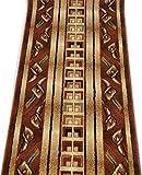 Läufer Teppich Flur - Abstraktes Muster - Dicht Gewebt Teppichläufer - Läufer nach Maß -