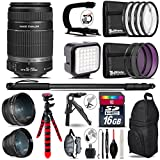 TriStateCamera Canon Ef-S 55-250mm Is Ii Lens + 0.43x Wide Angle Lens + 2.2X Telephoto Lens + Led Kit + Video Stabilizing Handle + Uv-Cpl-FLD Filters + Macro Filter Kit - International Version