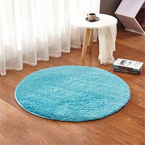 Linyingdian 120 cm 4 pies Alfombras Redondas Super Suave Sala de Estar Dormitorio Casa Alfombra Peluda...