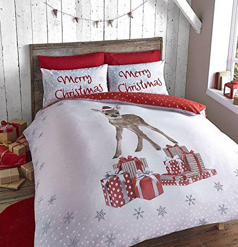 Catherine Lansfield Christmas Deer Single Duvet Set, Multi