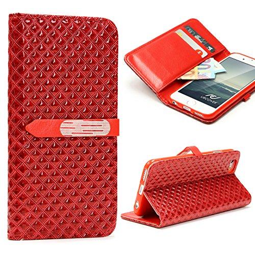 Apple IPhone 6 / 6s Handyhülle von original Urcover® in der Vintage Wallet Edition Edel IPhone 6 / 6s Schutzhülle Case Cover Etui Weiß Rot