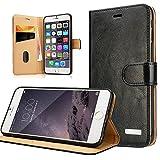Labato WEICH iPhone 6 Plus/6s Plus Handytasche Apple Plus Hülle Flip Cover iPhone Handyhüllen Ledertasche, schwarze Tasche, Leder Case Lbt-I6L-04Z10