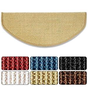 Floordirekt 15 x Teppich Stufenmatten Treppenstufen | 100% Sisal | wohnlichen Farben | rutschsicher für Mensch und Tier…