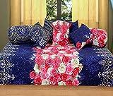 #8: Diwan Set(contain : 1 Single Bedsheet, 5 Cushion Cover , 3 Bolster, Total - 8 Pcs, 3D Design)