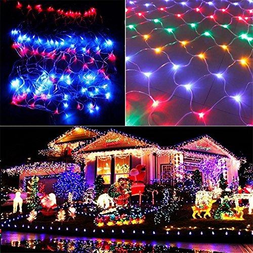 W-ONLY YOU-J Net Lights Festival Weihnachten dekorative Party Hochzeit Weihnachtsbaum Verpackung 8 Modi wasserdicht Garten Terrasse Party (2600 LEDs, 8 x 10m, mehrfarbig) , color