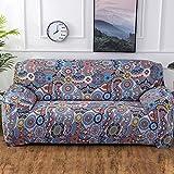 SSDLRSF Geometrische Bunte Druck Sofa Abdeckung Elastische Hussen Anti-dreckige Couch Abdeckung Sofa Funiture Abdeckung Handtuch Alle Wrap (90-300 cm), Farbe 4,2seater 145-185 cm