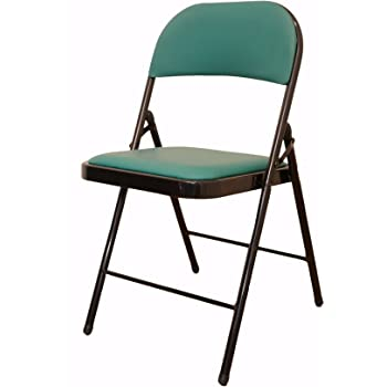 Eros Metal Folding Chair with Cushioned Seat ...