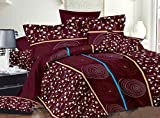 #6: Fabutex Beautiful printed Double Bedsheet with Two pillow Cover (228x245 cm)