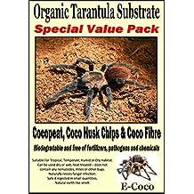 ORGANIC SUBSTRATE SOIL BEDDING FOR TARANTULAS, SPIDER TANK, ENCLOSURE, VIVARIUM, TARANTULA VIVARIA (SPECIAL PACK FOR SPIDERS, STARTER KIT) - READY TO USE - NATURAL ALTERNATIVE TO VERMICULITE, PEAT, WOOD SHAVINGS AND BARK CHIP. (1 LITRE + 50g)