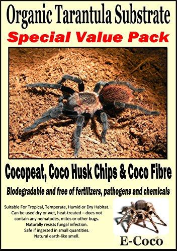 ORGANIC SUBSTRATE SOIL BEDDING FOR TARANTULAS, SPIDER TANK, ENCLOSURE, VIVARIUM, TARANTULA VIVARIA (SPECIAL PACK FOR… 1