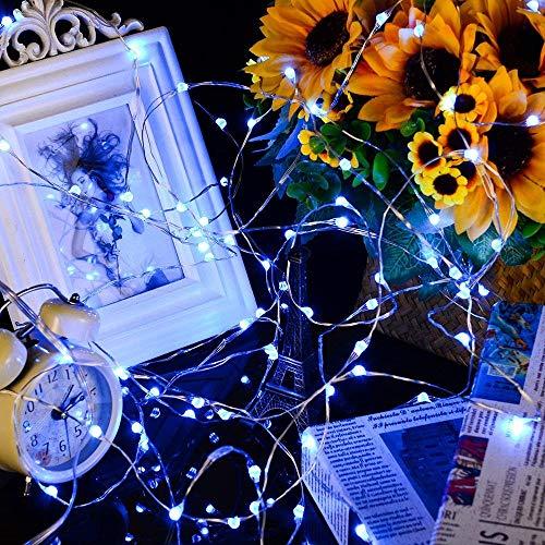 LED Warmweiß Kupferdraht Lichter String Starry LED Lichter FüR Flasche DIY,Party,Dekor, Weihnachten, Halloween Oder Stimmung Lichter ()