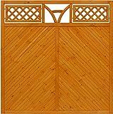 Andrewex Toulon Sichtschutzzaun 180 x 180 cm (H x B cm ) aus Kieferholz Sichtschutz / Windschutz Farbton: Braun Teak Pinie Anthrazit Grau Latte