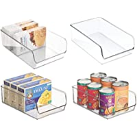 mDesign bac de rangement pratique (lot de 4) – bac alimentaire en plastique pour canettes, conserves, etc. – organiseur…
