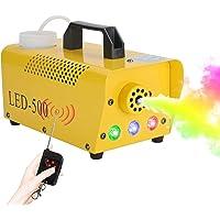 Nebelmaschine, NIPEECO 500W Nebel Rauchmaschine mit Funkfernbedienung, Bunte 3 LED RGB Lichteffekt Nebelmaschinen…