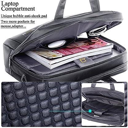 61YAaVc5pJL. SS416  - Profesional Bolsa de Ordenador Portátil 14-15 Pulgadas Nylon Espacioso Elegante Bolsa de Hombro Mensajero de Manija Maletín Tableta para 14-15 Pulgadas Portátil/Tableta / Macbook/Notebook