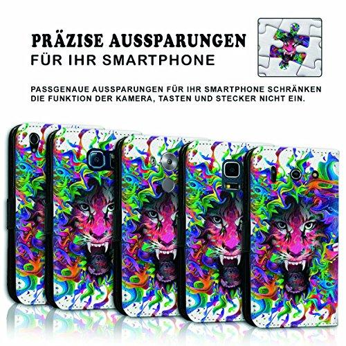 Wallet Book Style Flip Handy Tasche Case Schutz Hülle Schale Motiv Etui für Apple iPhone 6 / 6S - Variante UMV3 Design12 Design 7