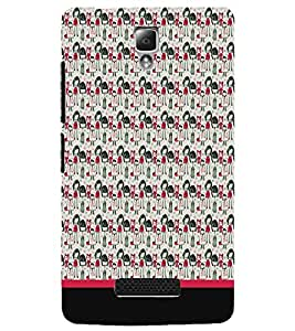 PrintDhaba Pattern D-1955 Back Case Cover for LENOVO A2010 (Multi-Coloured)