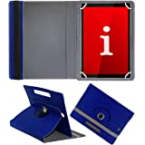 Fastway Rotating Leather Flip Case for iBall iTAB MovieZ Pro 10.1 inch with Wi-Fi+4G Tablet (Blue)