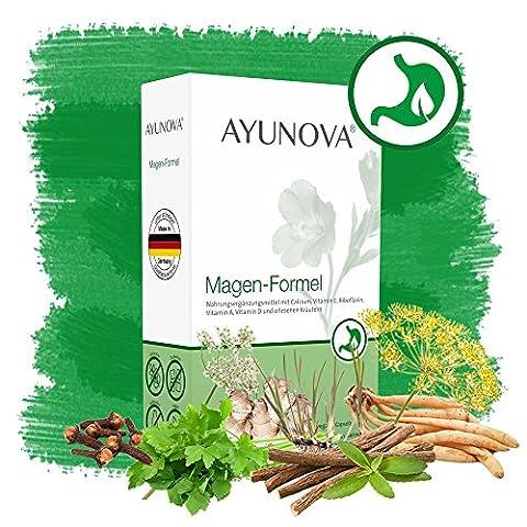AYUNOVA Magen-Formel - 60 vegane Kapseln mit der einzigartigen Kombination aus bewährten Pflanzen, essentiellen Vitaminen und Mineralstoffen - Ihr täglicher Beitrag für eine gesunde Magenschleimhaut