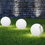 LED Solarkugel Solarleuchte Solarlampe Leuchtkugel - opalweiß - Ø 20cm