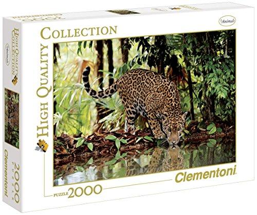 32537 - Clementoni Puzzle 2000 Teile Leopard, 2000 Teile