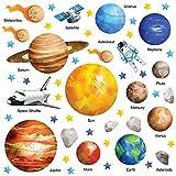 GET STICKING DÉCOR® Weltraum Sonnensystem Wandtattoo, Wandsticker Kollektion,...