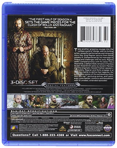 Vikings Season 4 Volume 1 Blu-ray