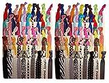 Best Hair Ties - Pack of 25 No Crease Elastic Ribbon Ponytail Review
