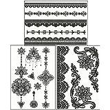ChicTats Tatouages éphémères - Set de 3 planches - Body Art & Bijoux brillants pour Filles & Femme - Body Make-up/Autocollants/Tatouages imperméables chic