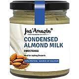 Jus' Amazin Condensed Almond Milk Sweetened, High Protein, Vegan, Cholesterol Free, Dairy Free, Soy Free, Gluten Free, Plant-