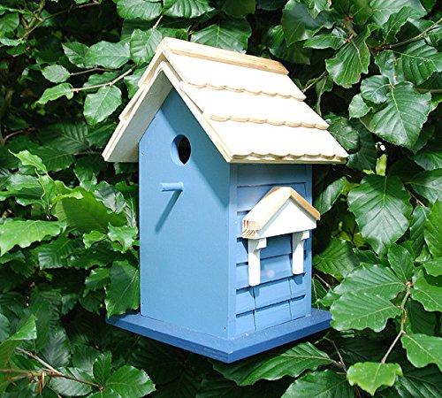 Buntes Vogelhaus Vogel-Villa Nistkasten Holz Creme 27,5cm - 2