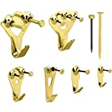 Dokpav Gouden fotolijsten, 130 hangers, zware ophangset, met spijkers, voor wand- en houtmontage 10-100 pond