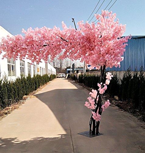 Lmopop Nachahmung Kirschbaum Wunschbaum Wohnzimmer Hotel Indoor und Outdoor Dekoration Fake Peach Tree, 1,5 m