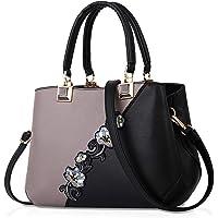 NICOLE & DORIS Sacs à main pour femmes sacs à bandoulière à la mode motif de fleurs Sac d'épaule épissage couleur