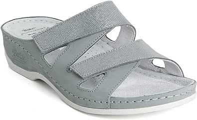 Batz ENI di Alta qualità Sandali Zoccoli Sabot Pantofole Scarpe Pelle, Donna